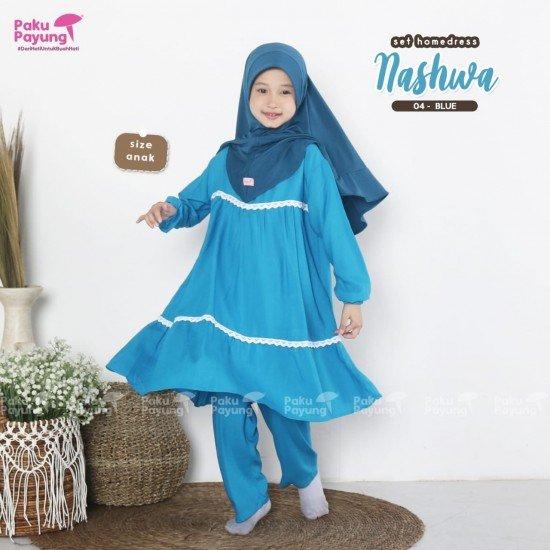 Gamis Anak Nashwa Series Blue