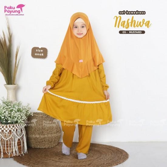 Gamis Anak Nashwa Series Mustard