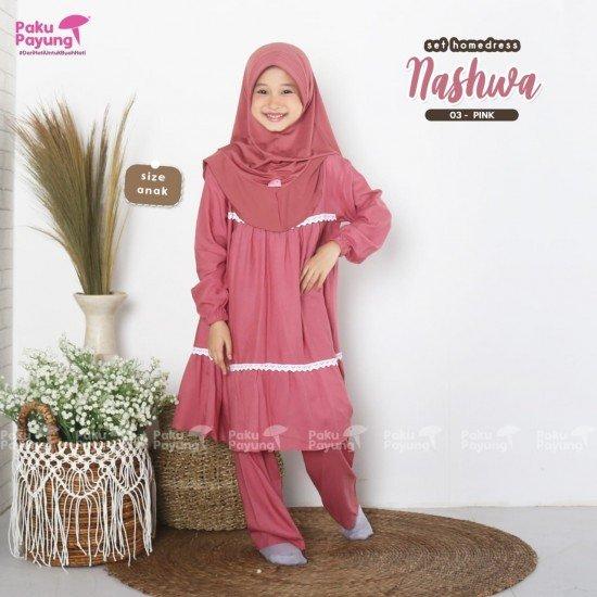 Gamis Anak Nashwa Series Pink