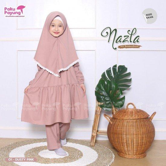 Gamis Anak Nazla Series Dusty Pink