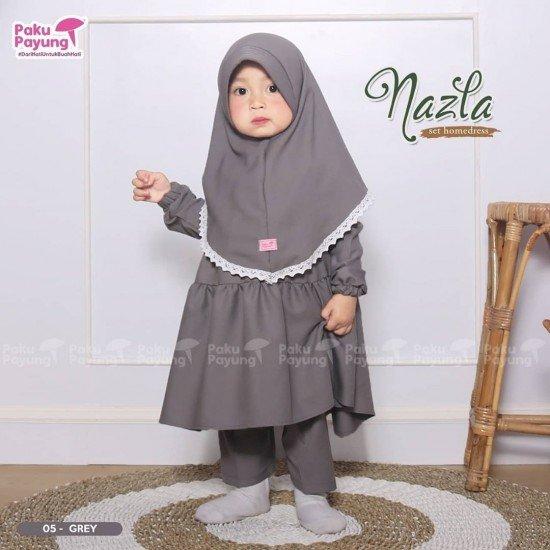 Gamis Anak Nazla Series Grey