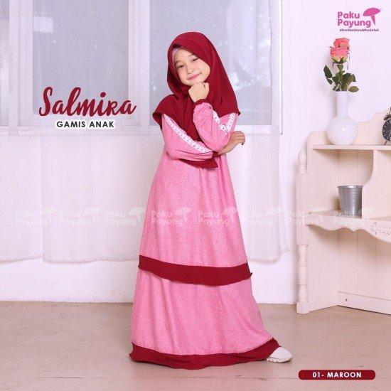 Gamis Anak Salmira Maroon