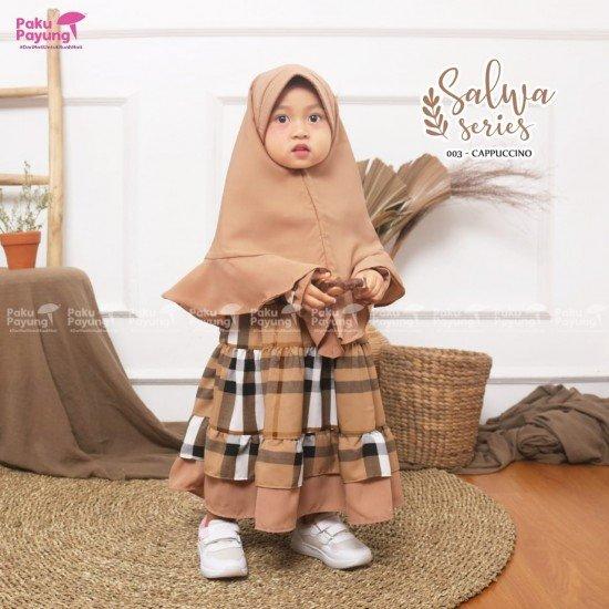 Gamis Anak Salwa Series Cappucino