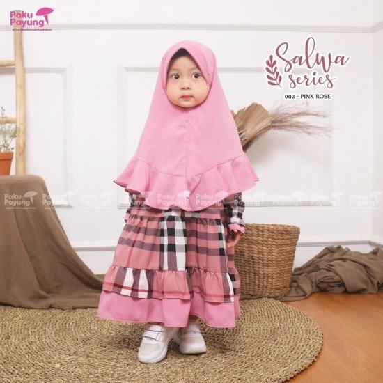 Gamis Anak Salwa Series Pink Rose