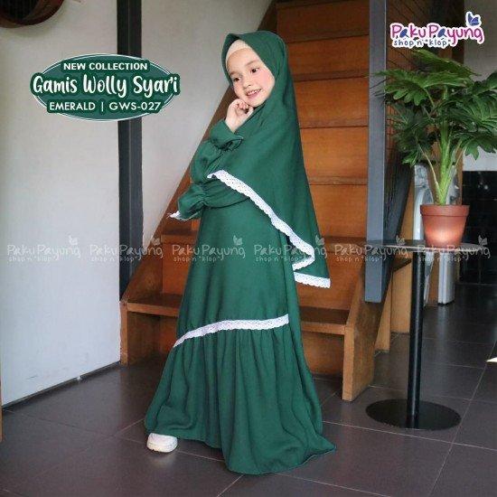 Gamis Anak Wolly Syari Emerald GWS-027