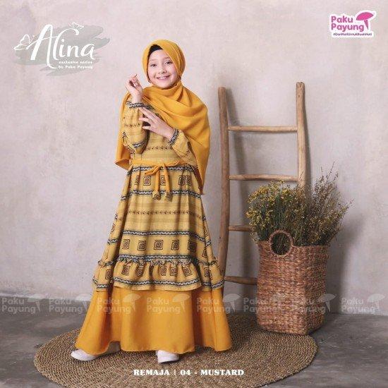 Gamis Remaja Alina Series Mustard