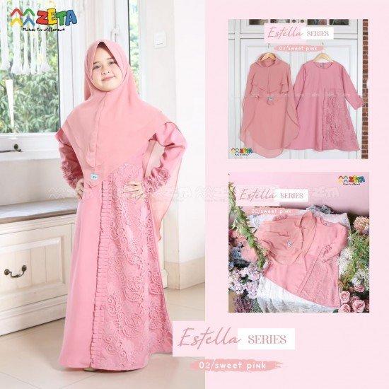 Gamis Anak Estella Sweet Pink