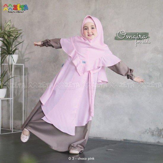 Gamis Anak Omaira Series Choco Pink