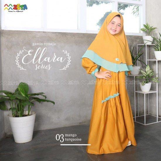 Gamis Remaja Ellara Mango Turquoise