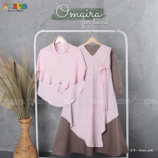 Gamis Remaja Omaira Series Chocho Pink