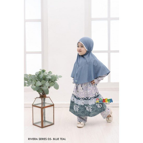Home Dress Anak Riviera Series Blue Teal